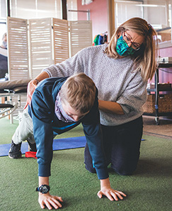 Physical Therapy with Child