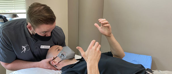 Physical therapist trains with mentor